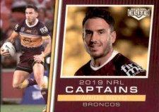 2019 NRL Elite 2019 Captains CC1 Darius Boyd Broncos