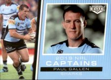 2019 NRL Elite 2019 Captains CC4 Paul Gallen Sharks