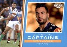 2019 NRL Elite 2019 Captains CC5 Ryan James Titans