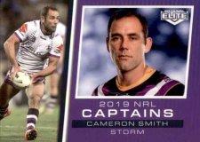 2019 NRL Elite 2019 Captains CC7 Cameron Smith Storm