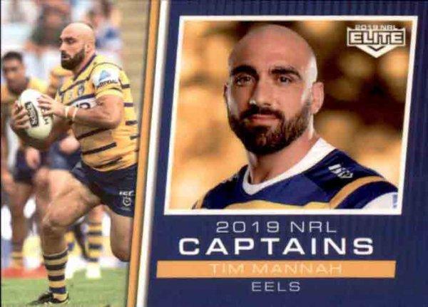 2019 NRL Elite 2019 Captains CC10 Tim Mannah Eels