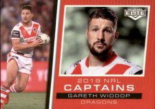 2019 NRL Elite 2019 Captains CC13 Gareth Widdop Dragons
