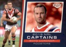 2019 NRL Elite 2019 Captains CC14 Boyd Cordner Roosters