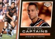 2019 NRL Elite 2019 Captains CC16 Moses Mbye Tigers