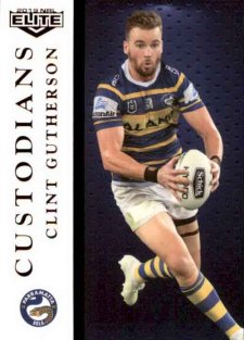 2019 NRL Elite Custodians C10 Clint Gutherson Eels