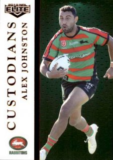 2019 NRL Elite Custodians C12 Alex Johnston Rabbitohs