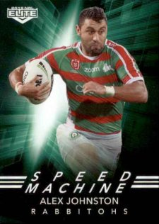 2019 NRL Elite Speed Machines SM23 Alex Johnston Rabbitohs