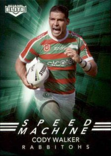 2019 NRL Elite Speed Machines SM24 Cody Walker Rabbitohs
