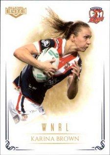 2019 NRL Elite WNRL WNRL9 Karina Brown Roosters