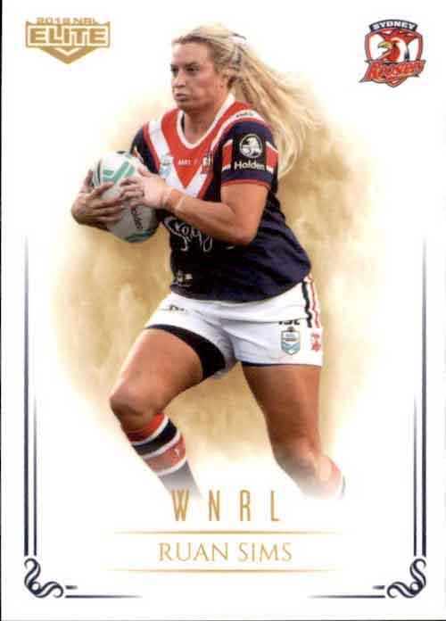 2019 NRL Elite WNRL WNRL11 Ruan Sims Roosters