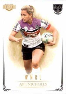 2019 NRL Elite WNRL WNRL15 Apii Nicholls Warriors