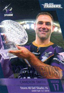 2019 NRL Traders Player in Focus Round 17 IF17 Cameron Smith Storm