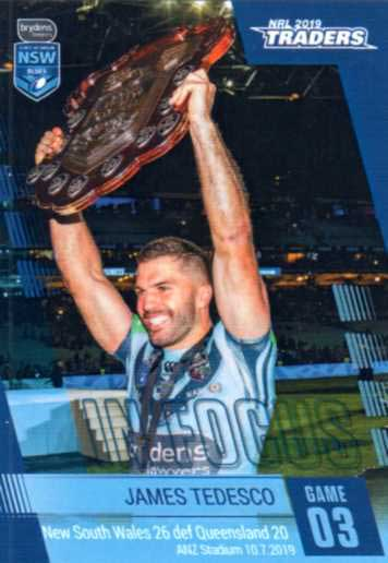 2019 NRL Traders Player in Focus Origin Game 3 IFSOO3 James Tedesco