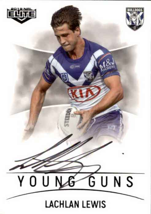 2019 NRL Elite Young Guns Signature YG3 Lachlan Lewis Bulldogs