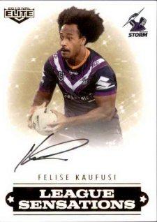 2019 NRL Elite League Sensations Signature LS7 Felise Kaufusi Storm
