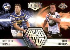 2019 NRL Elite Head to Head Case Card HH7 Mitchell Moses / Luke Brooks