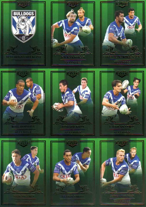 2019 NRL Elite Mojo Emerald Canterbury Bulldogs