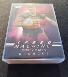 2019 NRL Elite Speed Machine Complete 32-Card Insert Set