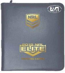 2019 NRL Elite Album / Folder with Complete 144-Card Base Common Set
