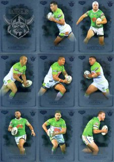 2019 NRL Elite 9-Card Silver Parallel Team Set Canberra Raiders