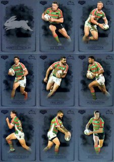 2019 NRL Elite 9-Card Silver Parallel Team Set South Sydney Rabbitohs
