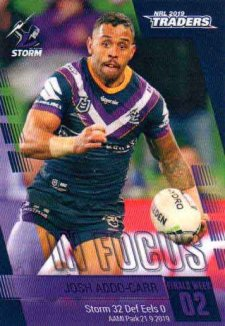 2019 NRL Traders Player in Focus Finals Week 2 FW02 Josh Addo-Carr Storm