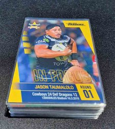 2019 NRL Traders Player in Focus Complete 34-Card Set