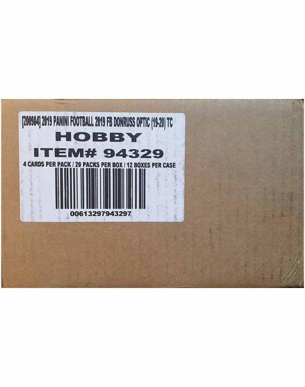 2019 Panini NFL Football Donruss Optic 12-Box Hobby Case