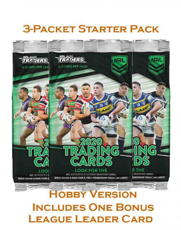 2020 TLA NRL Traders Sealed Hobby Starter Pack