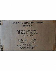 2018 TLA NRL Traders Sealed Trading Card 12-Box Case