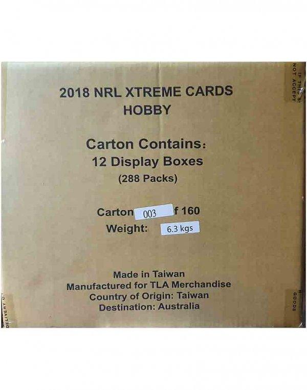 2018 TLA NRL Xtreme Sealed Trading Cards 12-Box Case