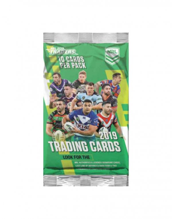 2019 TLA NRL Traders Sealed Trading Card Packet