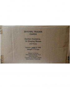 2019 TLA NRL Traders Sealed Trading Card 12-Box Case
