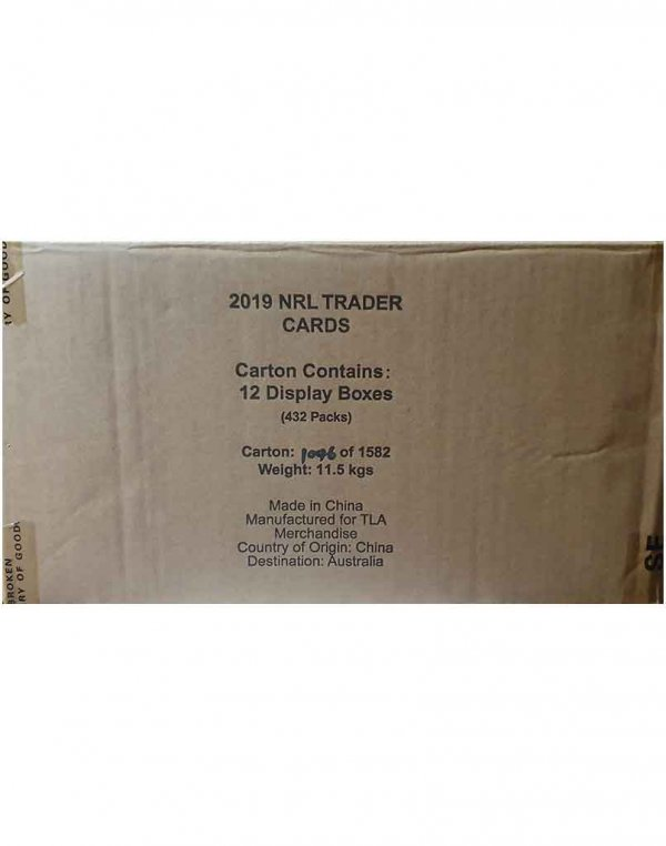 2019 TLA NRL Traders Sealed Trading Card 12-Box Case