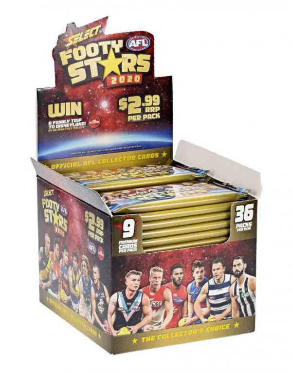2020 Select AFL Footy Stars Sealed Trading Card Box