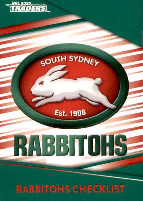 2020 Nrl Traders 10 Card Base Team Set South Sydney Rabbitohs Diggaz Trading Cards