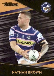 2020 NRL Traders Platinum Parallel PS93 Nathan Brown Eels