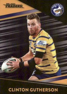 2020 NRL Traders Platinum Parallel PS95 Clinton Gutherson Eels
