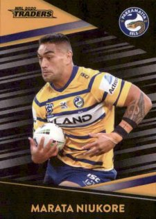 2020 NRL Traders Platinum Parallel PS98 Marata Niukore Eels