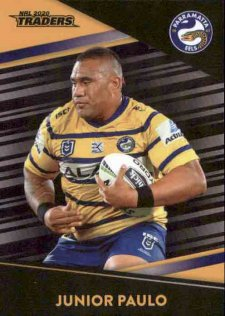 2020 NRL Traders Platinum Parallel PS99 Junior Paulo Eels