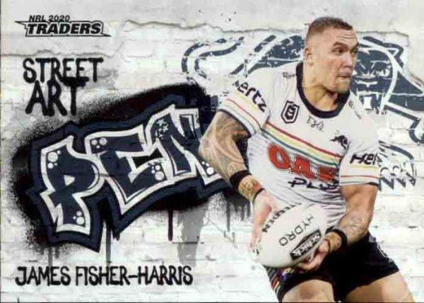 2020 NRL Traders Street Art SA11 James Fisher-Harris Panthers