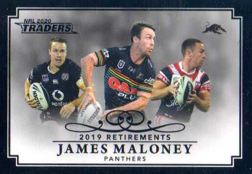2020 NRL Traders Retirements Case Card RP10 James Maloney Panthers