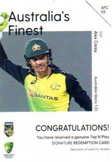 2019/20 Cricket Australia's Finest Signature Redemption AFC5 Alex Carey