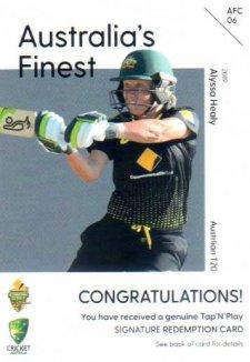 2019/20 Cricket Australia's Finest Signature Redemption AFC6 Alyssa Healy