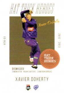 2019/20 Cricket Hat Trick Heroes Case Card HTH1 Xavier Doherty Hurricanes