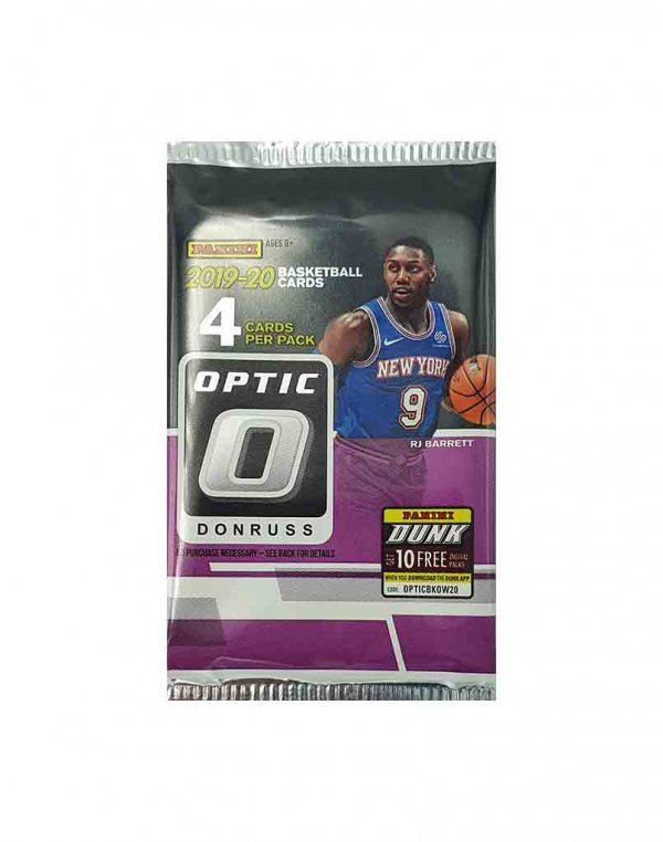 2019-20 Panini NBA Basketball Donruss Optic Hobby Packet