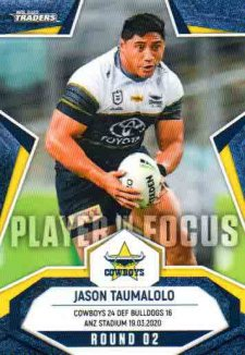 2020 NRL Traders Player in Focus Round 2 IF2 Jason Taumalolo Cowboys