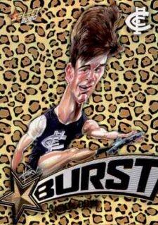 2020 AFL Footy Stars Starburst Leopard SBL9 Paddy Dow Blues