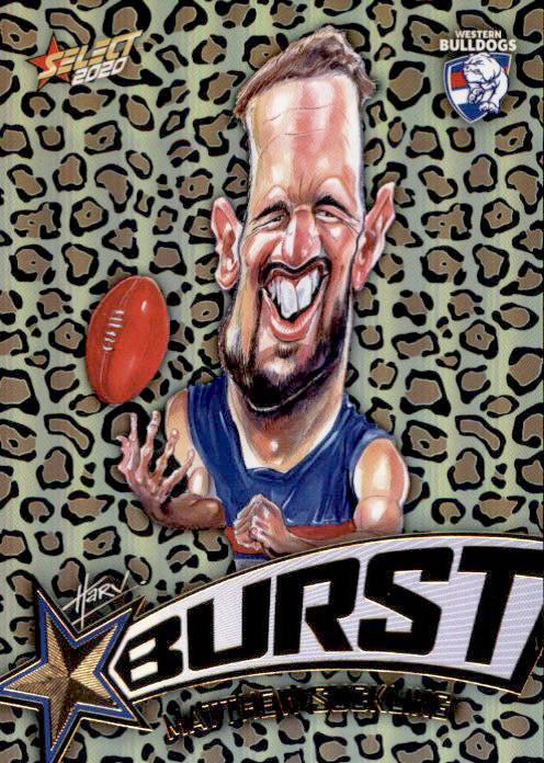 2020 AFL Footy Stars Starburst Leopard SBL72 Matt Suckling Bulldogs