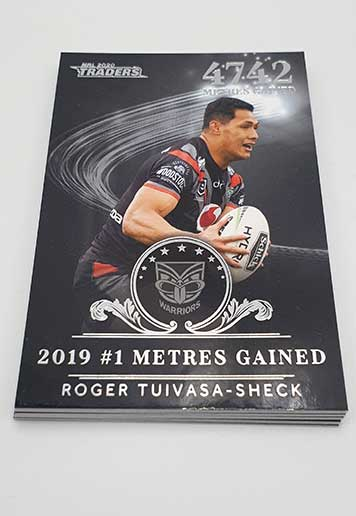 2020 NRL Traders Complete 9-Card League Leaders Silver Insert Set